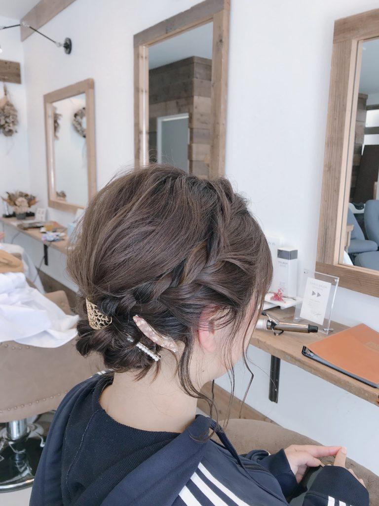 髪形写真 パーティーヘアセット